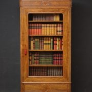 Attractive Walnut French Bookcase