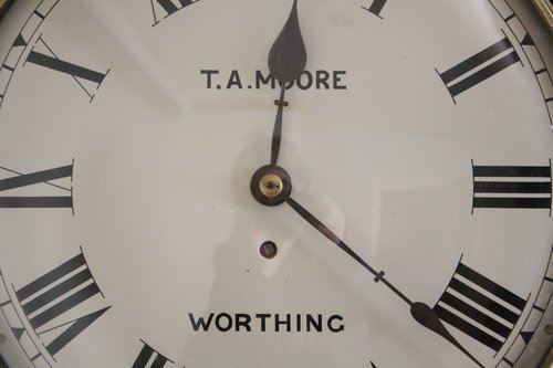 Victorian Wall Clock by T.A. Moore, Worthing