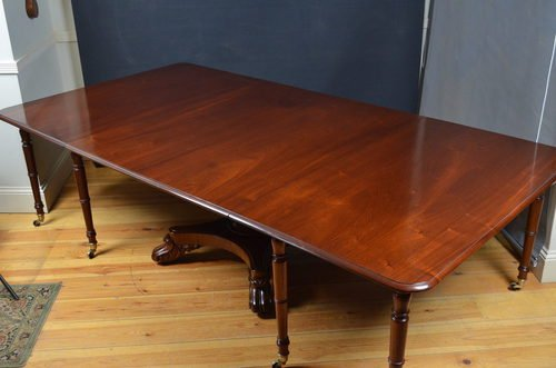 Rare William IV Mahogany Dining Table