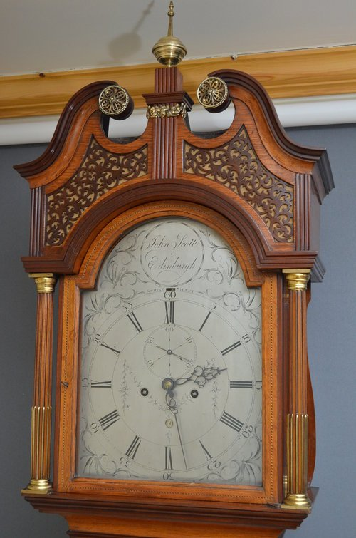 Georgian Longcase Clock by John Scott, Edinburgh