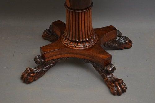 Superior William IV Tea Table
