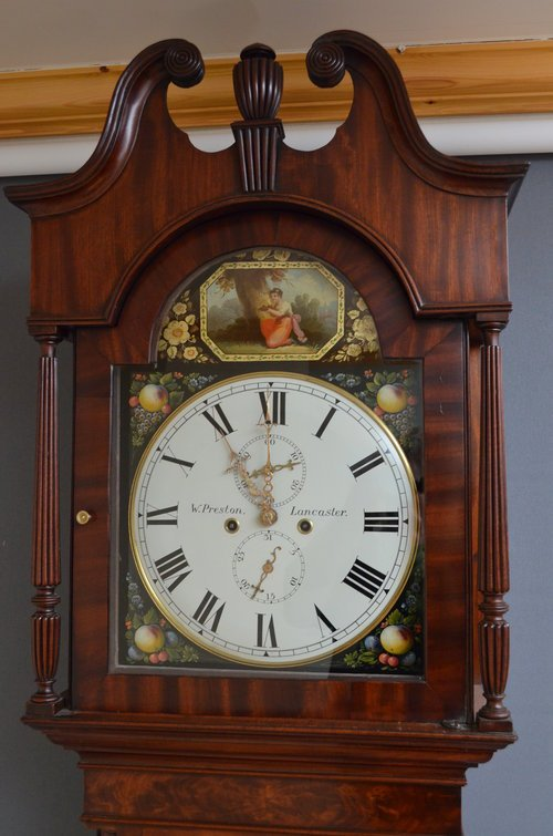 Regency Longcase Clock by W. Preston, Lancaster