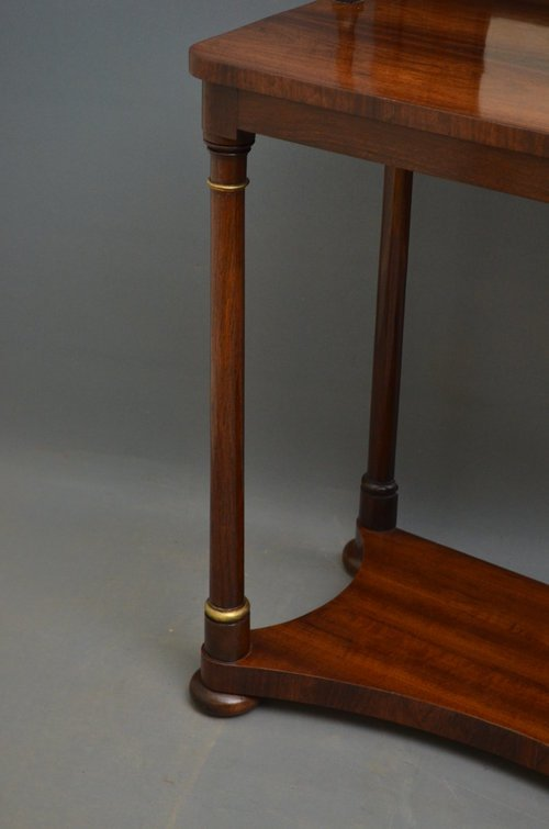 Regency Rosewood Console Table