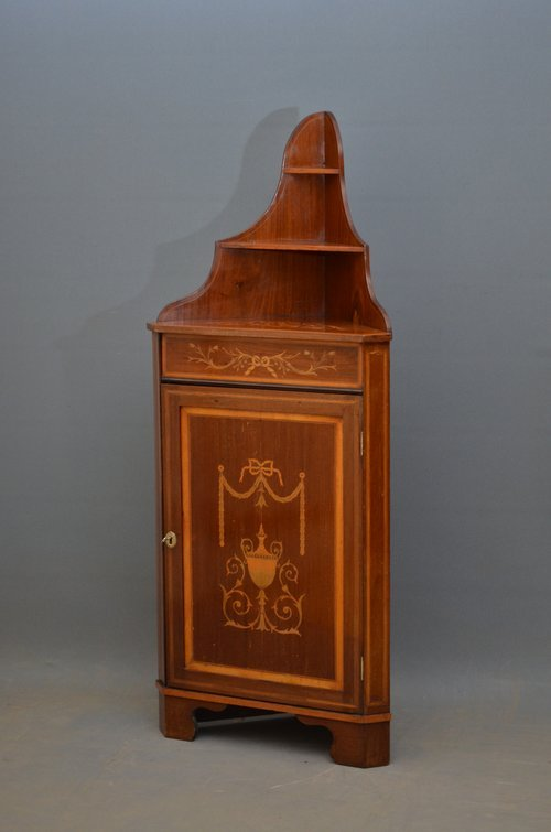 Unusual Edwardian Corner Cupboard