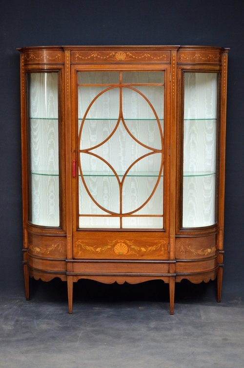 Fine Quality Edwardian Display Cabinet - Vitrine
