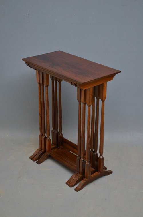 Late Victorian Rosewood Nest of Tables
