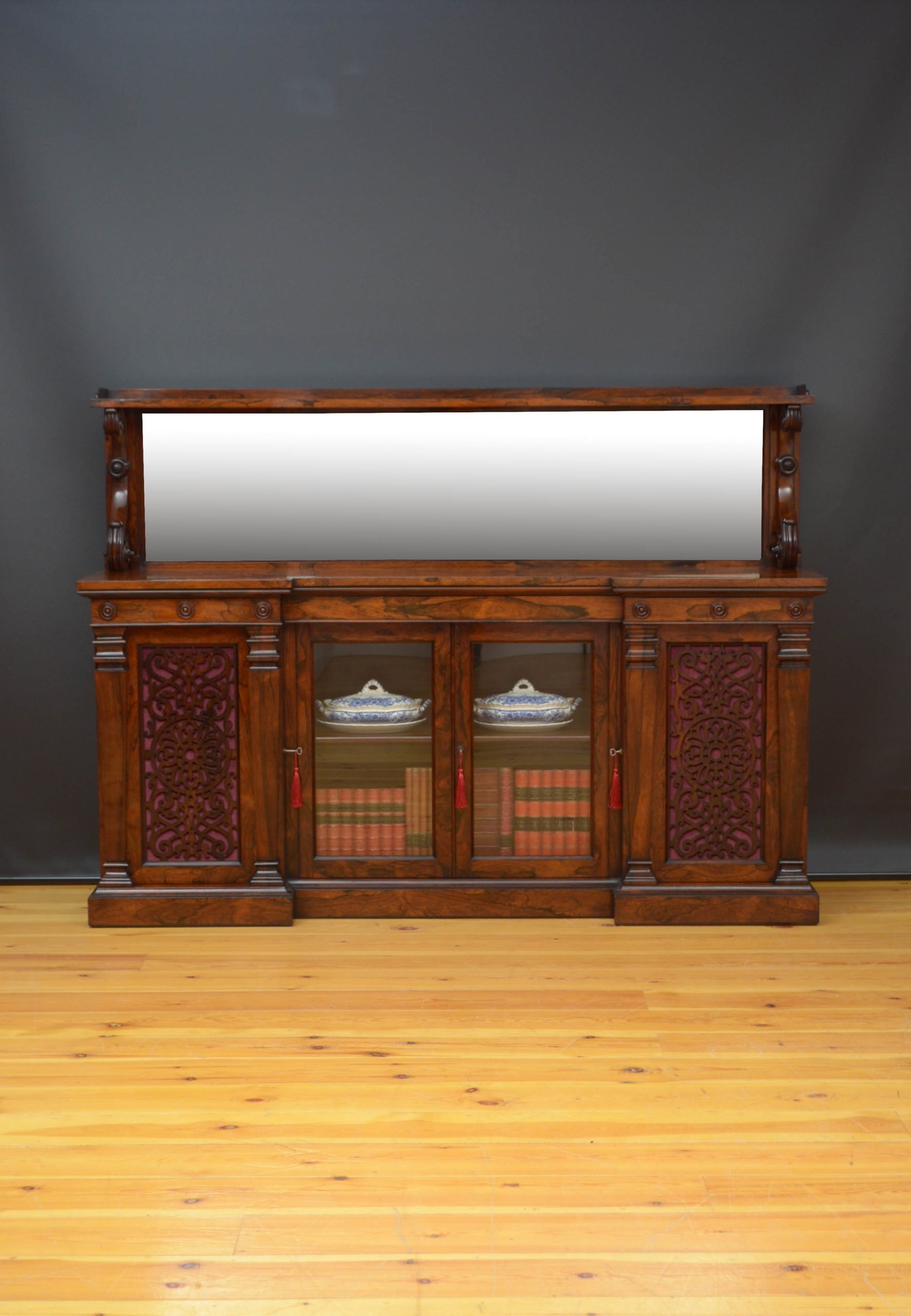 Large Victorian Sideboard / Bookcase