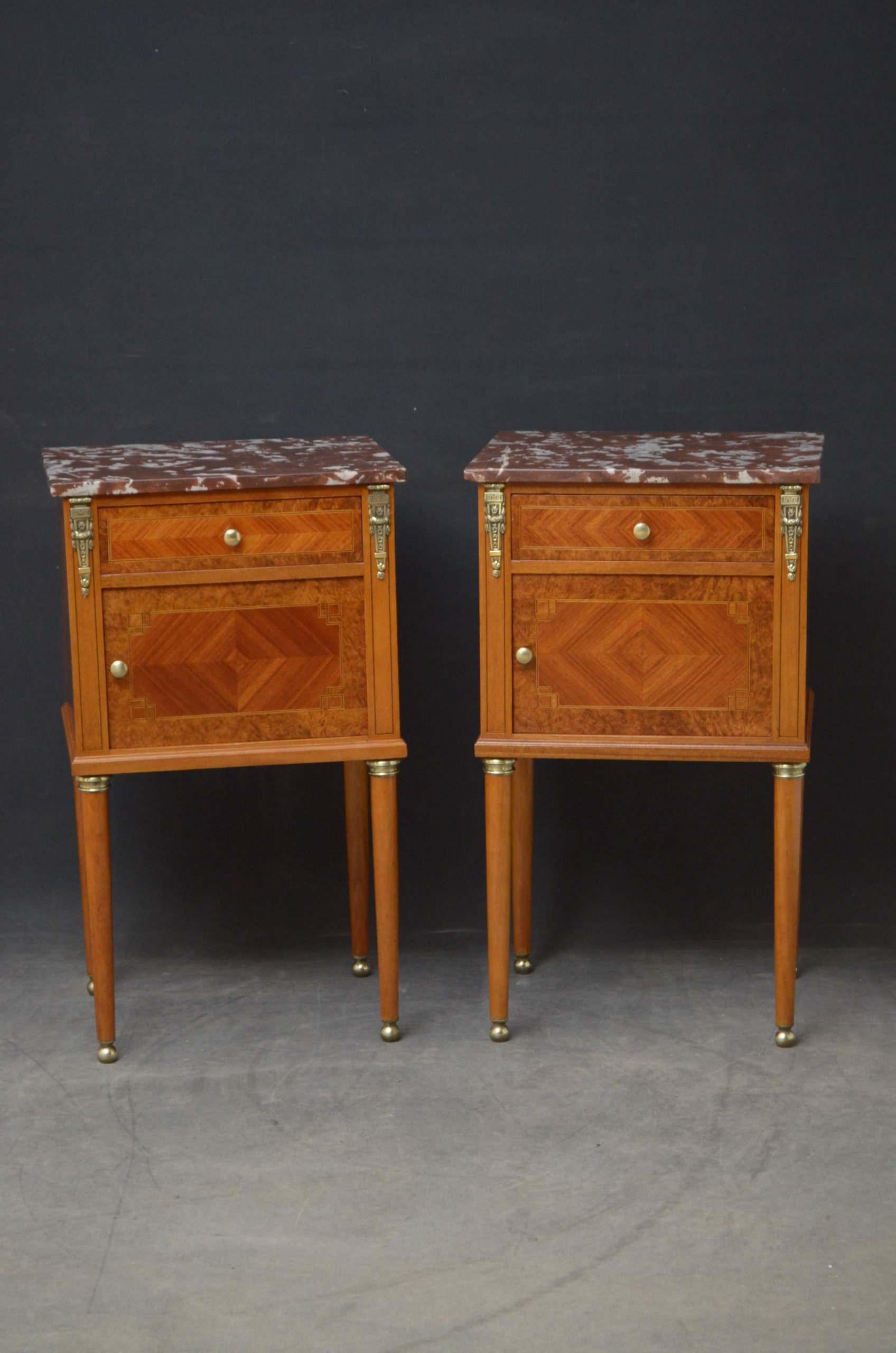 19th Century Pair of Bedside Cabinets