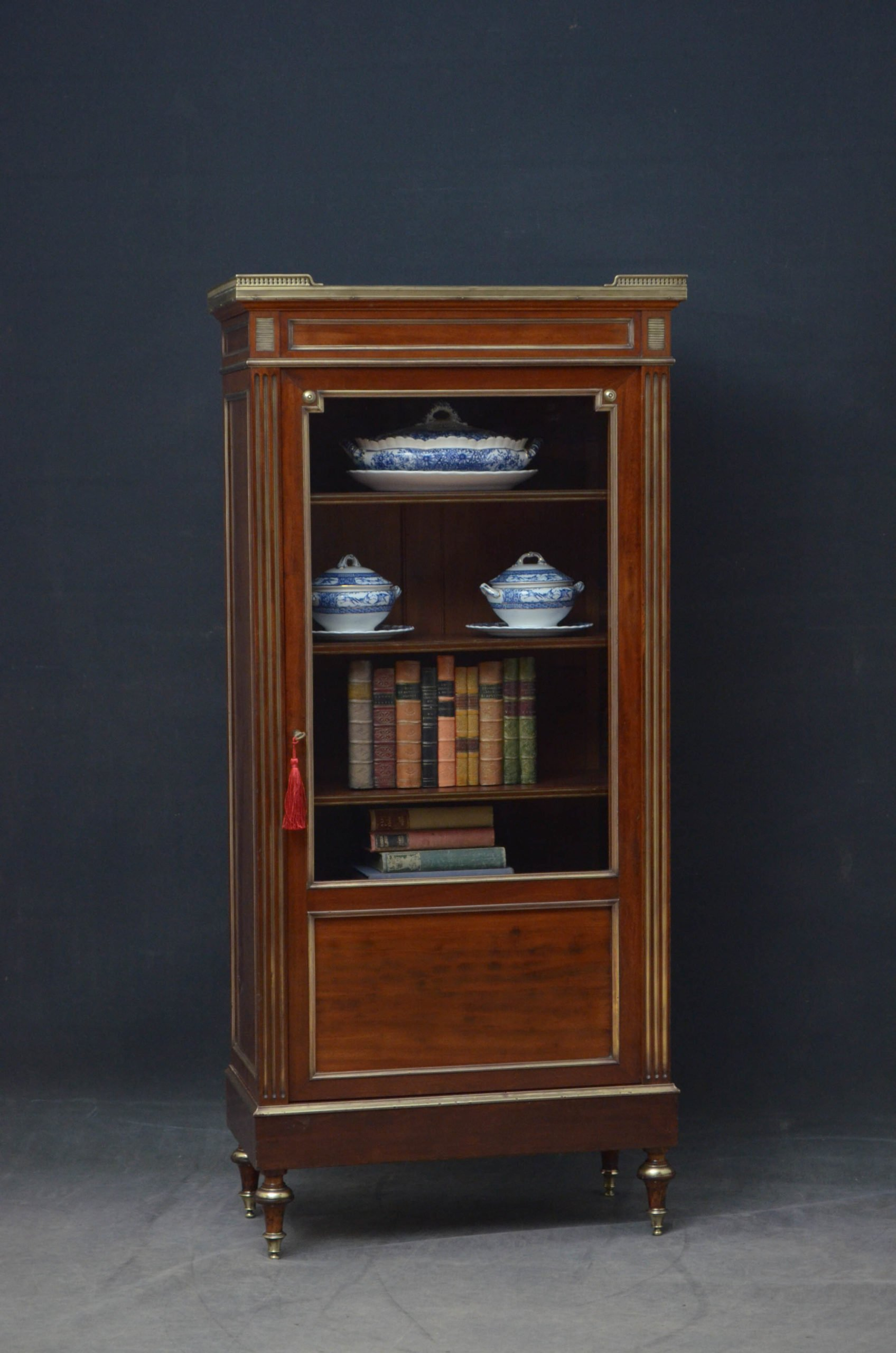 Turn of The Century French Bookcase / Display Cabinet