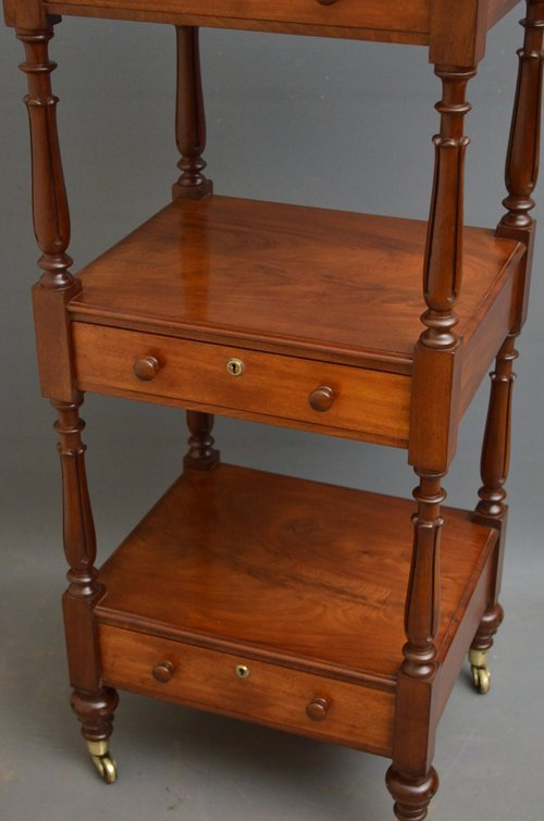Fine William IV Mahogany Whatnot - Etagère
