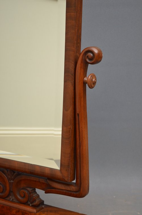 William IV Mahogany Toilet Mirror