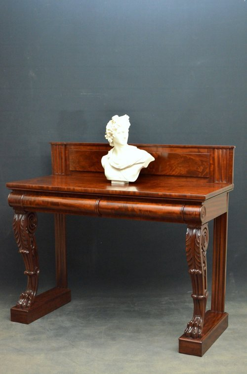 Magnificent William IV Mahogany Console Table