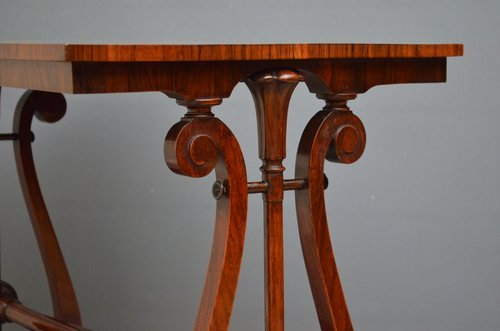 An Early Victorian Rosewood Side Table