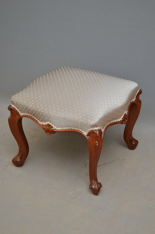 An Early Victorian Mahogany Stool / Foot Stool