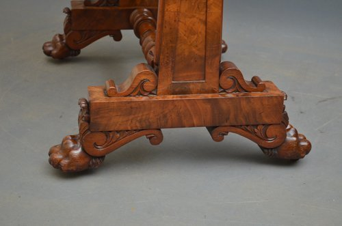 Impressive William IV Mahogany Sewing Table